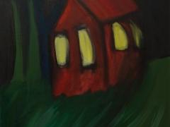 Dom lásky/The House of Love (©Peter Gasparik) 2014, oil on canvas, 50x40