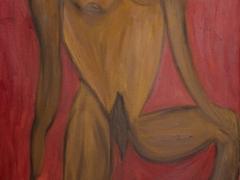 Dostal si ma úplne/You got me totally (©Peter Gasparik) 2013, oil on canvas, 160x67
