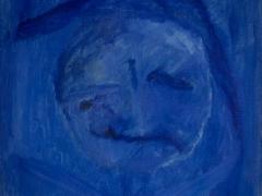 Modrý Pierot/The Blue Pierot (©Peter Gasparik) 1996,oil on canvas, 40x40