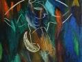 Alica v ríši zázrakov/Alice in Wonderland (©Peter Gasparik) 1999, oil on canvas 100x120